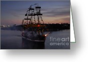 Cannons Greeting Cards - Pirate Invasion Greeting Card by David Lee Thompson
