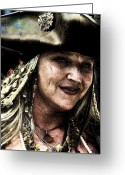 Pirates Greeting Cards - Pirate Queen Greeting Card by David Patterson