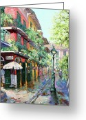 Pirates Painting Greeting Cards - Pirates Alley Greeting Card by Dianne Parks
