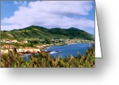Bays Greeting Cards - Pirates Cove Greeting Card by Kurt Van Wagner