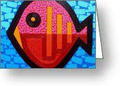 Giclees Greeting Cards - Pisces 4 Greeting Card by John  Nolan