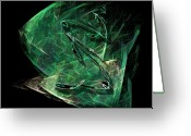 Visual Artist Greeting Cards - Pisces Greeting Card by Viktor Savchenko