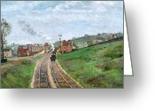 1871 Greeting Cards - Pissarro: Station, 1871 Greeting Card by Granger