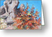 Arboretum Greeting Cards - Pistachio Canyon Greeting Card by Sandy Tracey
