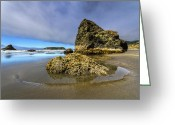 Tidal River Greeting Cards - Pistol Beach Greeting Card by Debra and Dave Vanderlaan