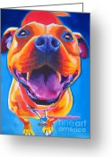 Bull Terrier Greeting Cards - Pit Bull - Lots to Love Greeting Card by Alicia VanNoy Call