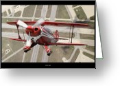 Air Digital Art Greeting Cards - Pitts Special S-2B Greeting Card by Larry McManus