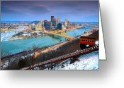 Mellon Arena Greeting Cards - Pittsburgh 11 Greeting Card by Emmanuel Panagiotakis