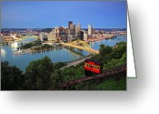 Mellon Arena Greeting Cards - Pittsburgh 12 Greeting Card by Emmanuel Panagiotakis