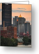 Mellon Arena Greeting Cards - Pittsburgh 15 Greeting Card by Emmanuel Panagiotakis