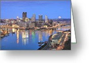 Mellon Arena Greeting Cards - Pittsburgh 18 Greeting Card by Emmanuel Panagiotakis