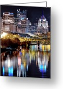 Mellon Arena Greeting Cards - Pittsburgh 2 Greeting Card by Emmanuel Panagiotakis