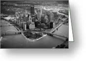 Mellon Arena Greeting Cards - Pittsburgh 8 Greeting Card by Emmanuel Panagiotakis