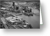 Pittsburgh Skyline Greeting Cards - Pittsburgh 9 Greeting Card by Emmanuel Panagiotakis