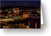 Mt. Washington Greeting Cards - Pittsburgh from across the Monongahela River Greeting Card by David Hahn