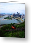 Incline Greeting Cards - Pittsburgh Incline Greeting Card by Kimberly Nolan