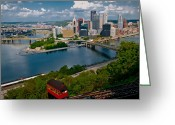 Incline Greeting Cards - Pittsburgh Greeting Card by Richard Marquardt