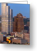 Pittsburgh Skyline Greeting Cards - Pittsburgh skyline 1 Greeting Card by Emmanuel Panagiotakis