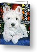 Debbie Brown Greeting Cards - Pj Greeting Card by Debbie Brown