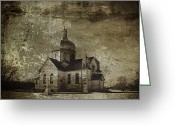 Old Prints Posters Greeting Cards - Place of Prayer Greeting Card by Larysa Luciw