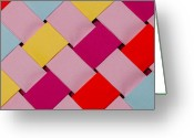 Color  Colorful Sculpture Greeting Cards - Plaited Greeting Card by John White