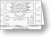 Cities Greeting Cards - Plan Of Lafayette Square Greeting Card by Granger