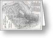 Ny Ny Greeting Cards - Plan of the City of New York Greeting Card by American School