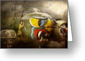 Canons Greeting Cards - Plane - Pilot - Airforce - Dog Daize Greeting Card by Mike Savad