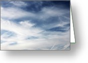 Vapor Greeting Cards - Plane In Flight Greeting Card by Richard Newstead