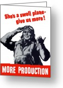 War Production Greeting Cards - Plane Production Give Us More Greeting Card by War Is Hell Store