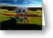 Airplanes Greeting Cards - Plane Ready For Take Off Greeting Card by Paul Ward