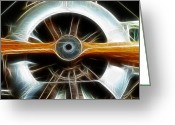 Airplanes Greeting Cards - Plane Wood And Chrome Greeting Card by Paul Ward