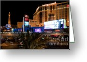 Lit Greeting Cards - Planet Hollywood Hotel Greeting Card by Andy Smy