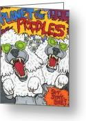 Planet Of The Apes Greeting Cards - Planet of the Poodles Greeting Card by Anthony Snyder