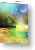 Metropolitan Greeting Cards - Planet Paladin Greeting Card by Corey Ford