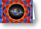 Geode Greeting Cards - Planet Shift Greeting Card by Bell And Todd