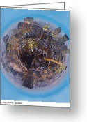 High Resolution Greeting Cards - Planet Wee Montreal Quebec Greeting Card by Nikki Marie Smith