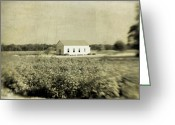 Religious Building Greeting Cards - Plantation Church Greeting Card by Scott Pellegrin