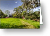 Veranda Greeting Cards - Plantation Home Greeting Card by Drew Castelhano