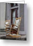 Rocking Chairs Greeting Cards - Plantation Rocking Chairs Greeting Card by Carol Groenen