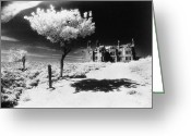 Silver Gelatin Greeting Cards - Plas Pren Greeting Card by Simon Marsden