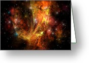 Flares Greeting Cards - Plasma Drift Greeting Card by Corey Ford