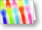 Eat Greeting Cards - Plastic Cutlery Greeting Card by Carlos Caetano