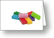 Game Piece Greeting Cards - Plastic toys. Building blocks. Greeting Card by Fernando Barozza