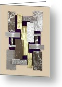 Textured Sculpture Greeting Cards - Plates Greeting Card by Rick Roth