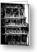 "\""steel Mill\\\"" Greeting Cards - Platforms Greeting Card by John Rizzuto"
