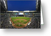 Major League Baseball Greeting Cards - Play Ball Greeting Card by CJ Schmit