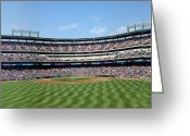 Third Base Greeting Cards - Play Ball Greeting Card by Greg Kopriva