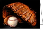 Professional Baseball Greeting Cards - Play Ball Greeting Card by Olivier Le Queinec