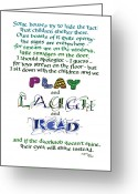 Valuable Time Greeting Cards - Play Laugh Read Greeting Card by Judy Dodds